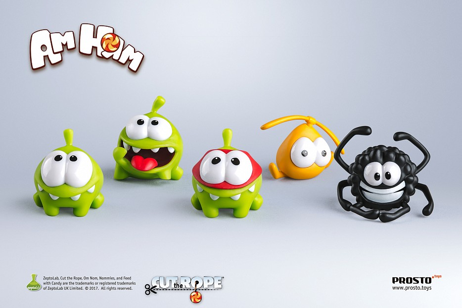набор 12 - «Cut the Rope», 5 фигурок Фото 0